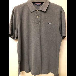 Vineyard Vines Polo Shirt Gray Size L Cotton